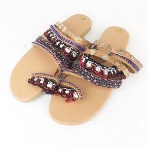 Shoes - SZ 7 Multicolored Multi- strap Detail Sandal